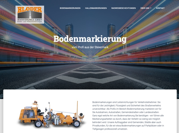 Website Referenz Bodenmarkierungen