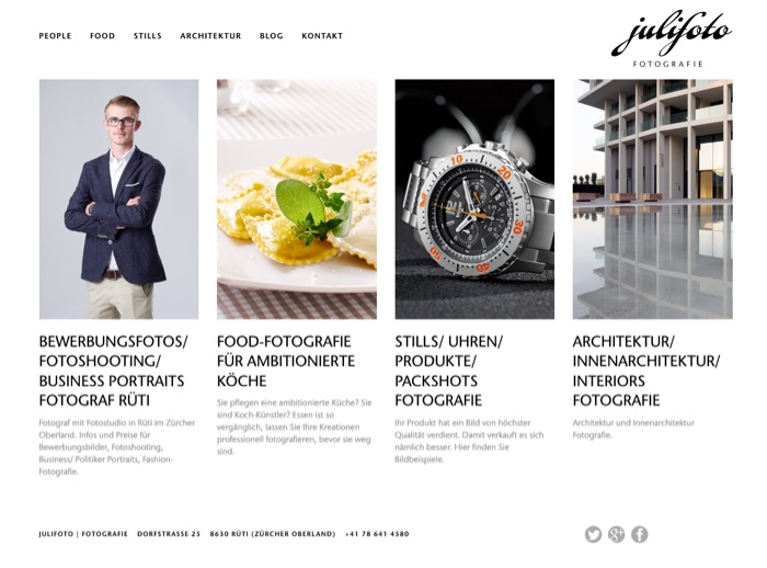 Website Referenz Julifoto