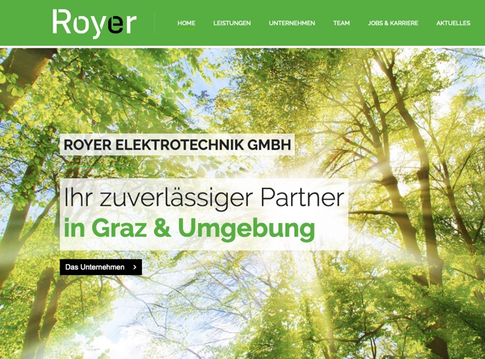 Website Referenz Royer Elektrotechnik Graz